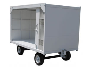 Open Airport Baggage Trailer
