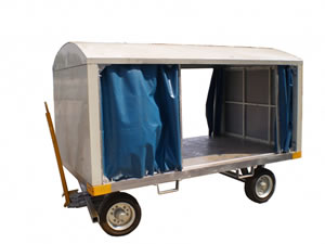 Closed Airport Baggage Trailer